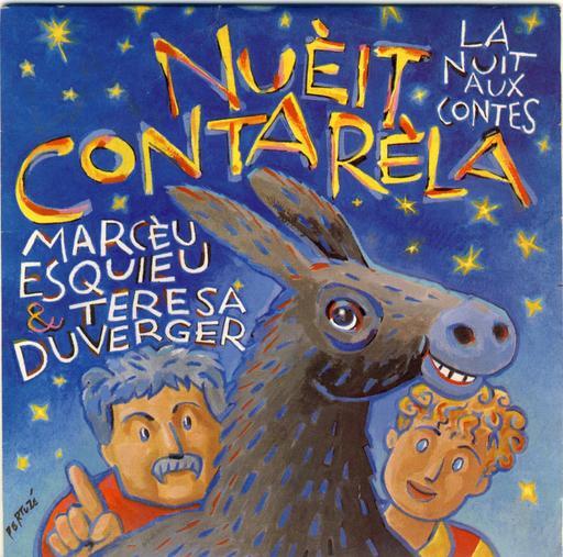 Affiche bilingue de La nuit aux contes