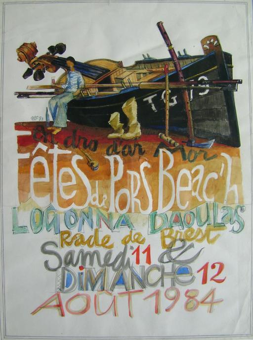 Affiche bilingue des fêtes de Pors Beac'h 84