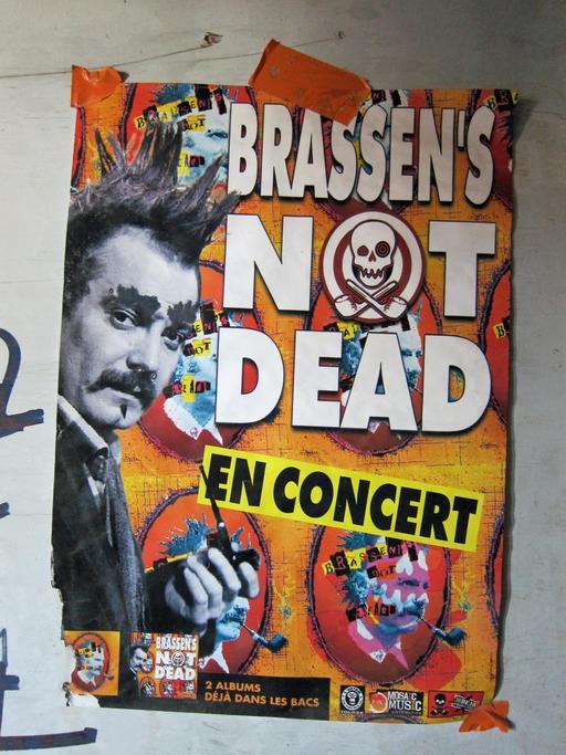 Affiche d'un concert récent sur Brassens à Toulouse