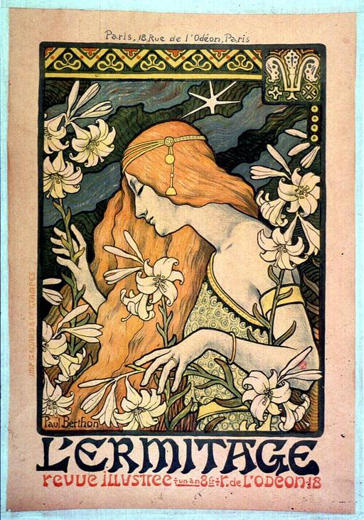 Affiche de 1897 pour la revue L'Ermitage