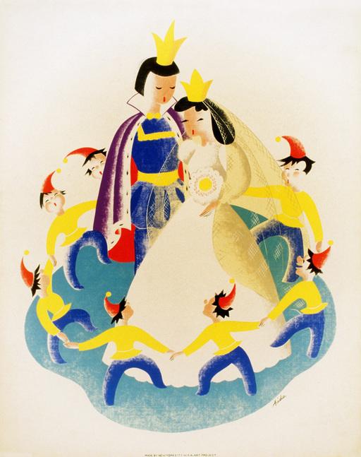 Affiche de Blanche-Neige dans les années 1939