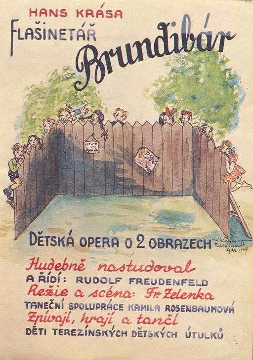 Affiche de l'opéra tchèque de Brundibar
