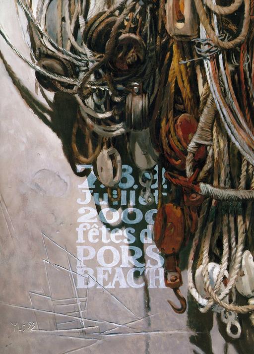 Affiche des fêtes de Pors Beac'h en 2000