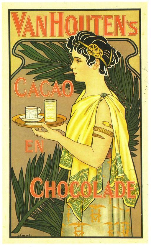 Affiche hollandaise pour le cacao