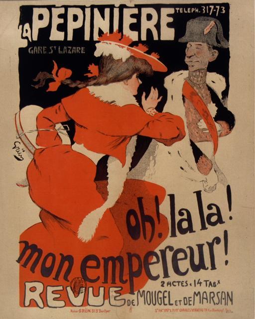 Affiche la Pépinière vers 1900