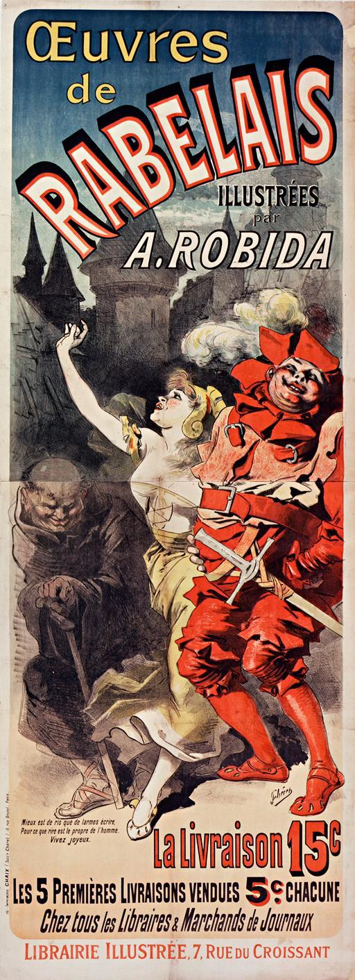 Affiche pour les œuvres de Rabelais en 1885