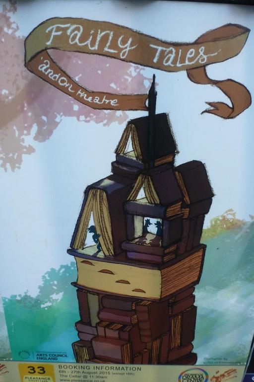 Affiche pour un spectacle de contes de fées à Édimbourg