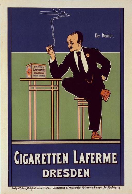 Affiche publicitaire allemande