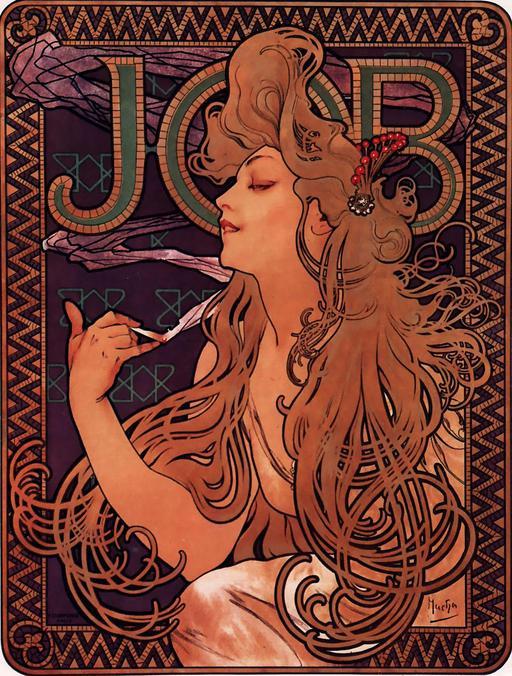 Affiche publicitaire pour le papier à cigarettes