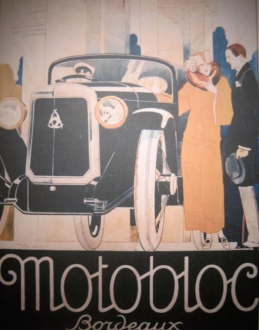 Affiche publicitaire pour les véhicules Motobloc