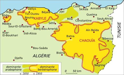 Aires linguistiques du nord-est algérien