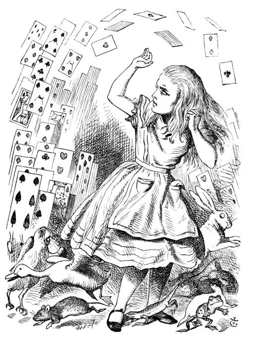 Alice en colère