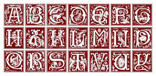 Alphabet du XVIème siècle