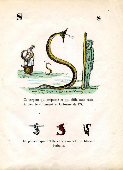 Alphabet enchanté, la lettre S