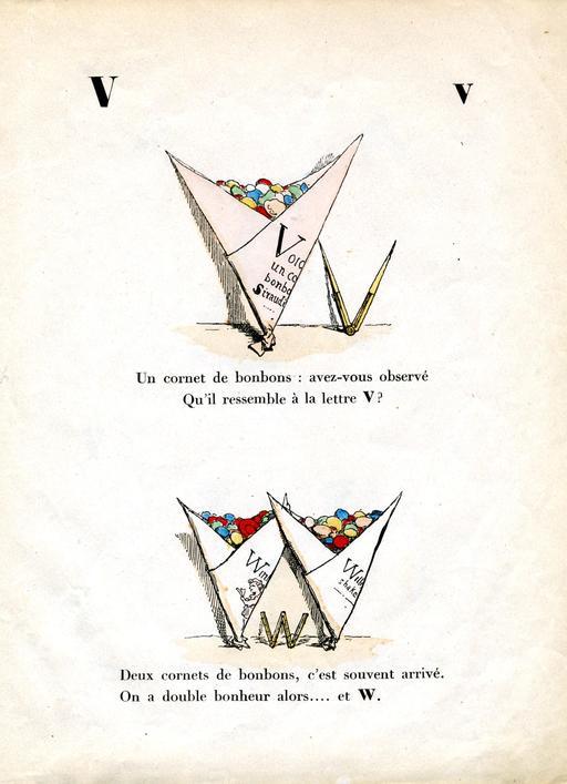 Alphabet enchanté, les lettres V et W