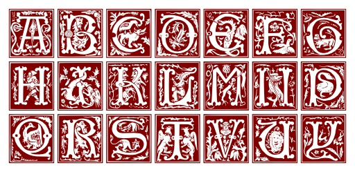 Alphabet fantaisie du XVIème siècle