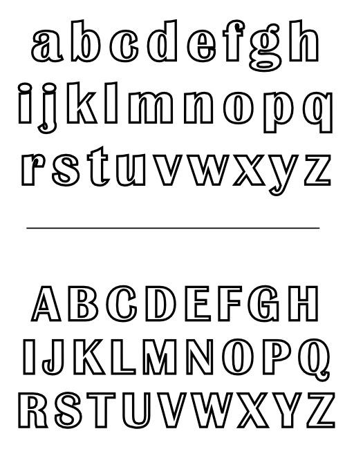 Alphabets majuscule et minuscule à colorier