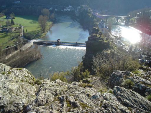 Ambialet (Tarn) vue du prieuré