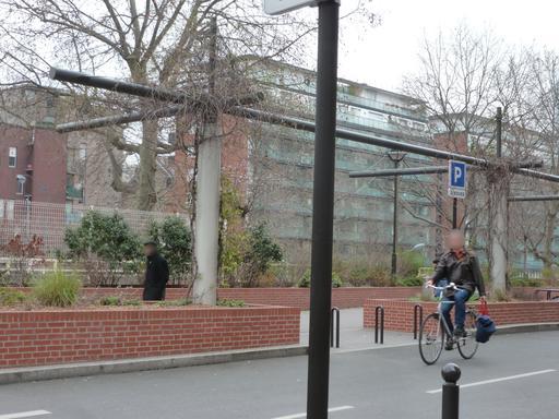Aménagements piétons Boulevard Berthier à Paris
