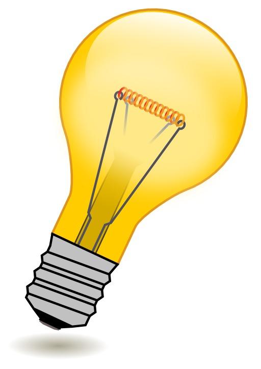Ampoule électrique orange