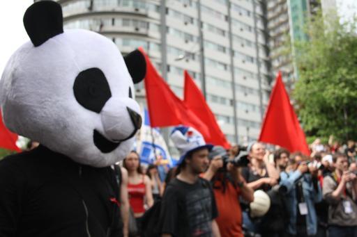 Anarchopanda et la grève du 22 mai 2012