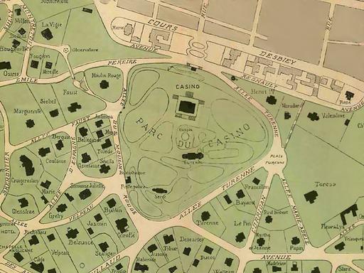 Ancien plan de la ville d'hiver d'Arcachon