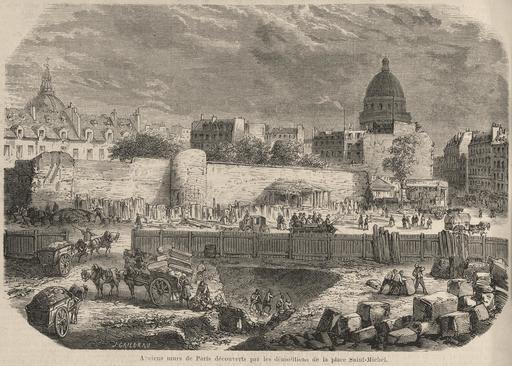 Anciens murs de Paris découverts en 1860