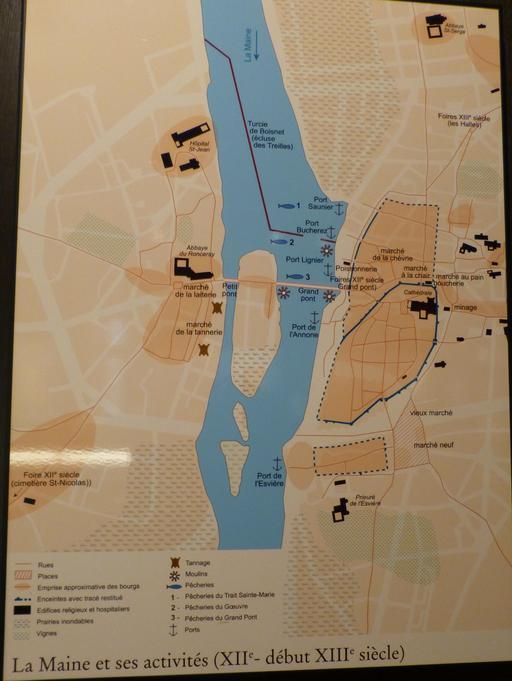 Angers, activités portuaires médiévales
