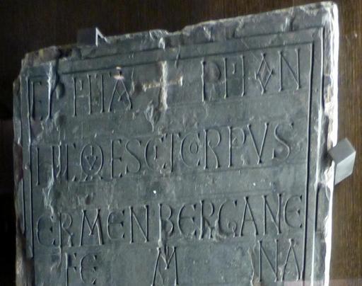 Angers, épitaphe d'Ermanbergane