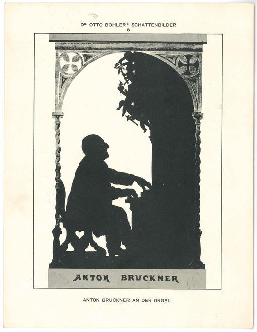 Anton Bruckner en silhouette