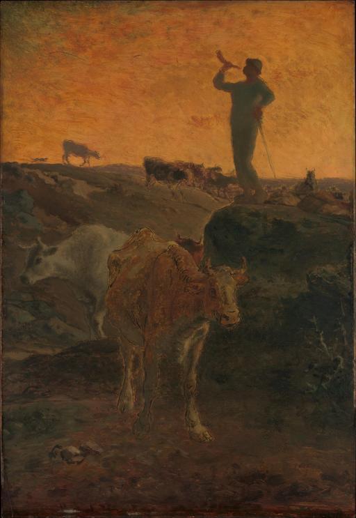 Appel des vaches en 1872