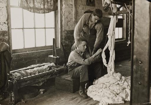 Apprentissage du filage en 1908