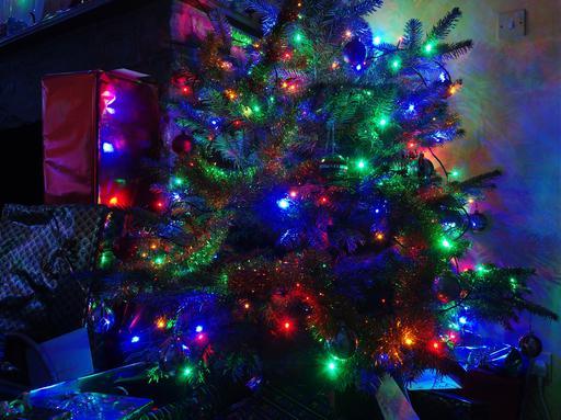 Arbre de Noël illuminé