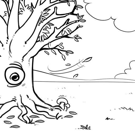 Dessin d'arbre en automne