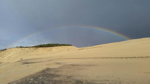 Arc-en-ciel sur la dune du Pilat