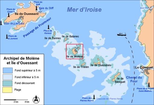 Archipel de Molène dans le Finistère