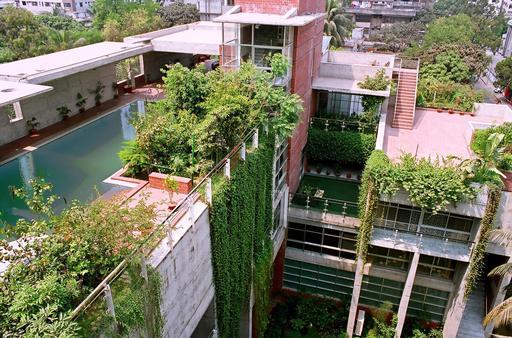 Architecture végétale au Bangladesh