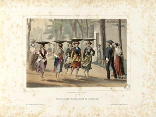 Arrivée des marchandes de sardines à Bayonne en 1852