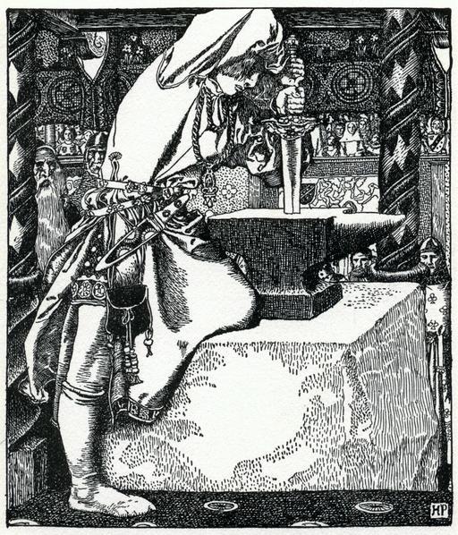 Arthur et Excalibur en 1903