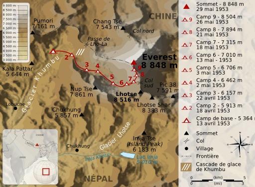Ascencion de l'Everest en 1953