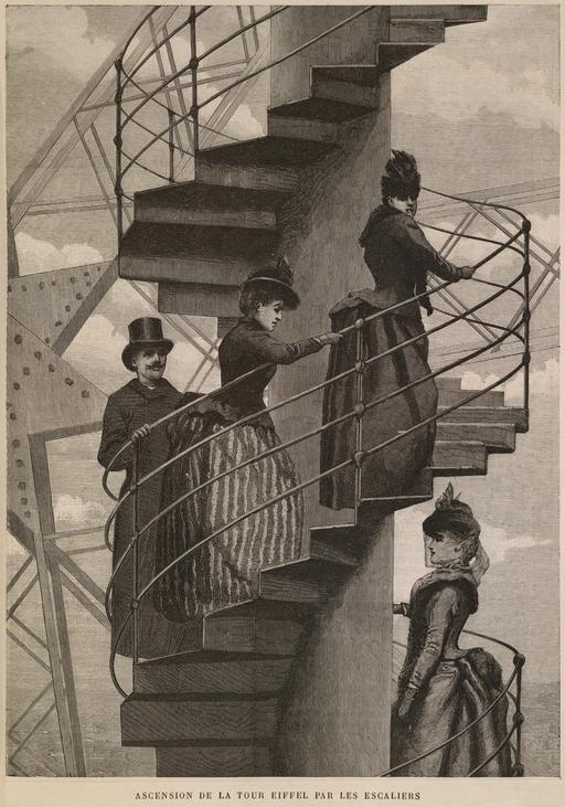 Ressources ducatives libres les ressources libres du pr - Escalier de la tour eiffel ...