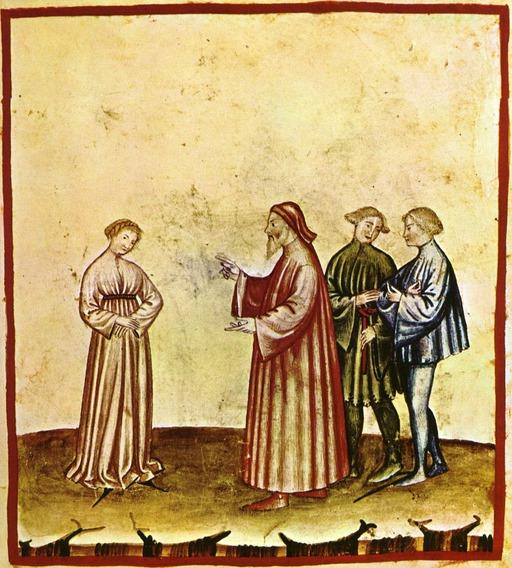 Aspect de la vie quotidienne au Moyen Age : la discrétion féminine