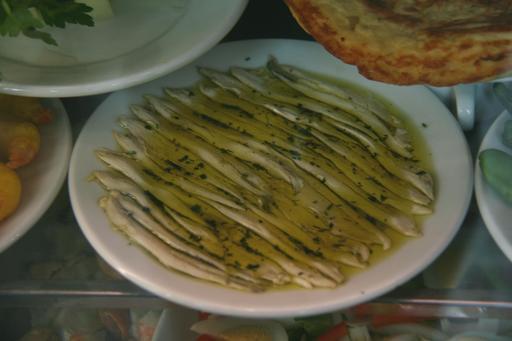 Assiette d'anchois au vinaigre