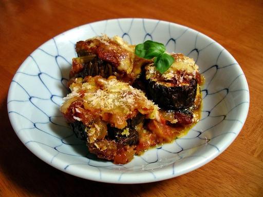 Assiette d'aubergines au parmesan
