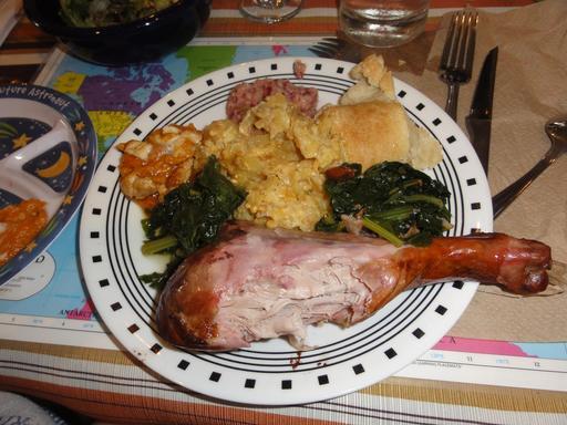 Assiette de Thanksgiving à New Orleans