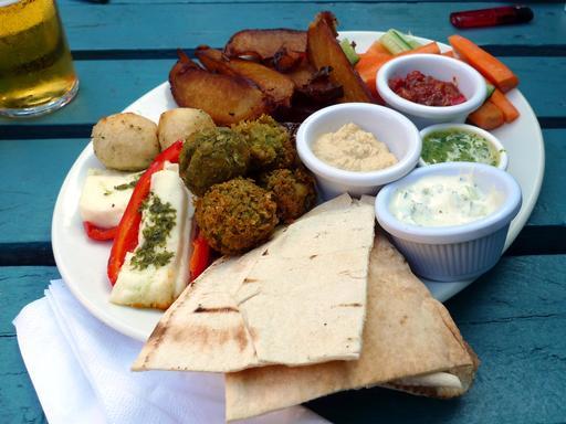 Assiette végétarienne à Londres