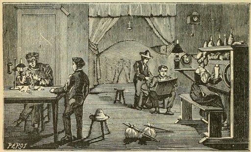 Atelier d'horloger en 1904