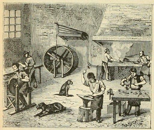 Atelier de coutellerie