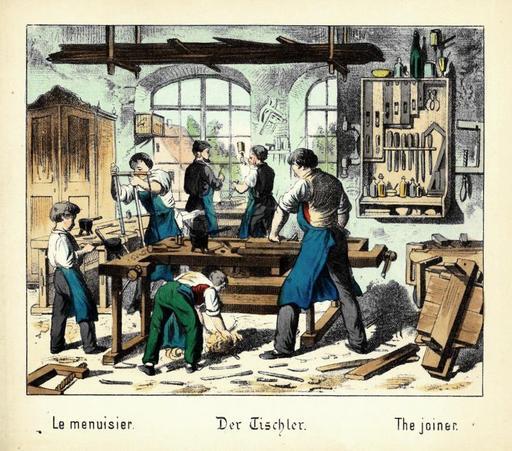 Atelier de menuisier du XIXème siècle
