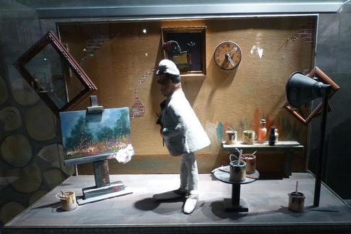 Atelier de peintre au musée des automates